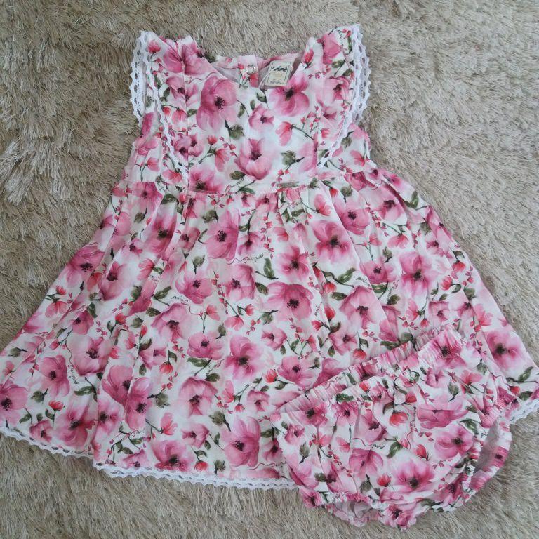 Vestido floral rosa ANIMÊ