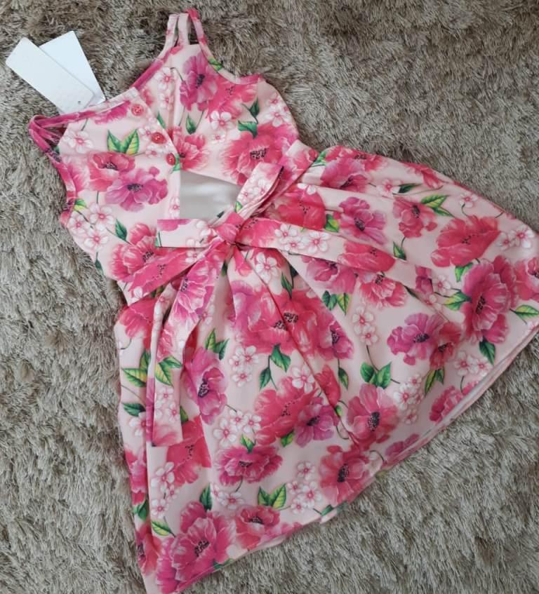 Vestido Momi floral papoulas