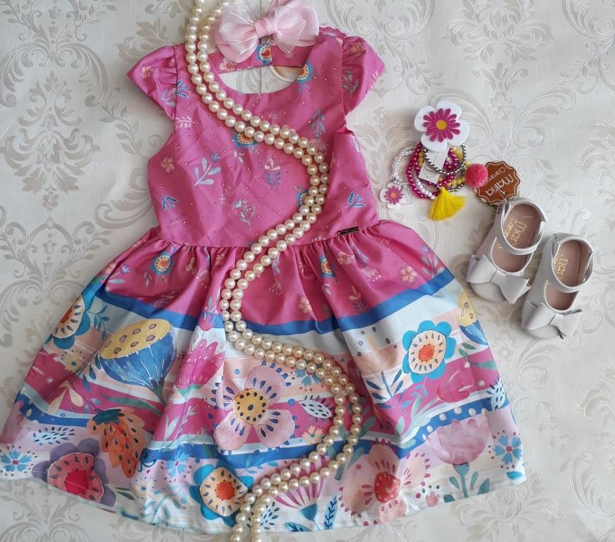Vestido rosa barrado MON SUCRÉ