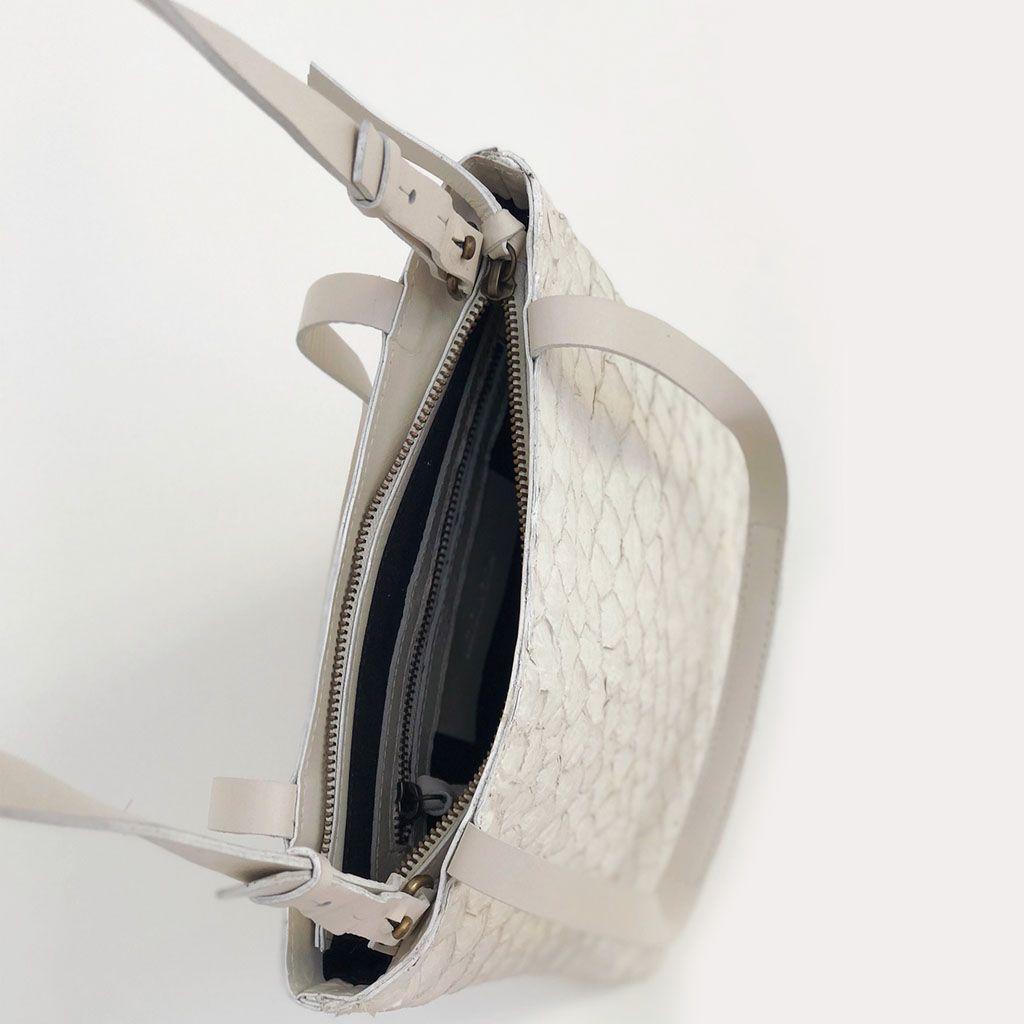Bolsa Pirarucu off-white G