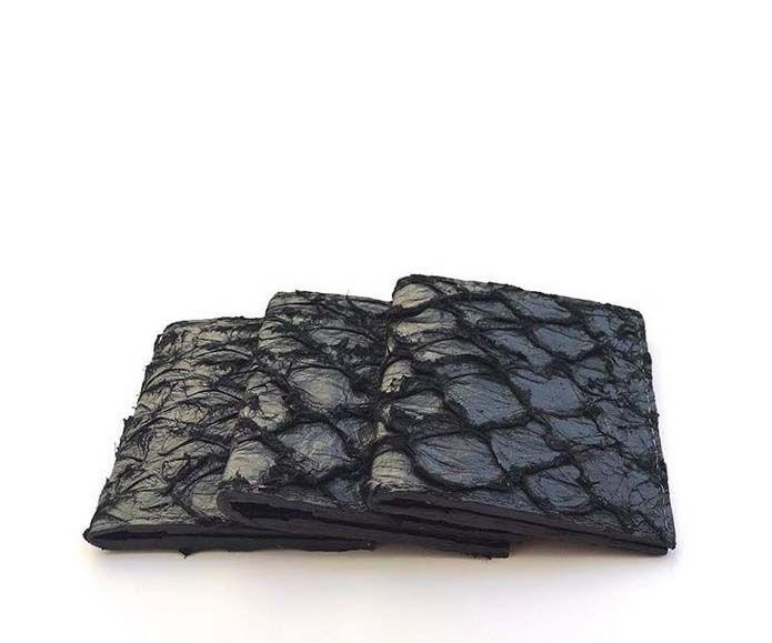 Mini carteira Pirarucu preta