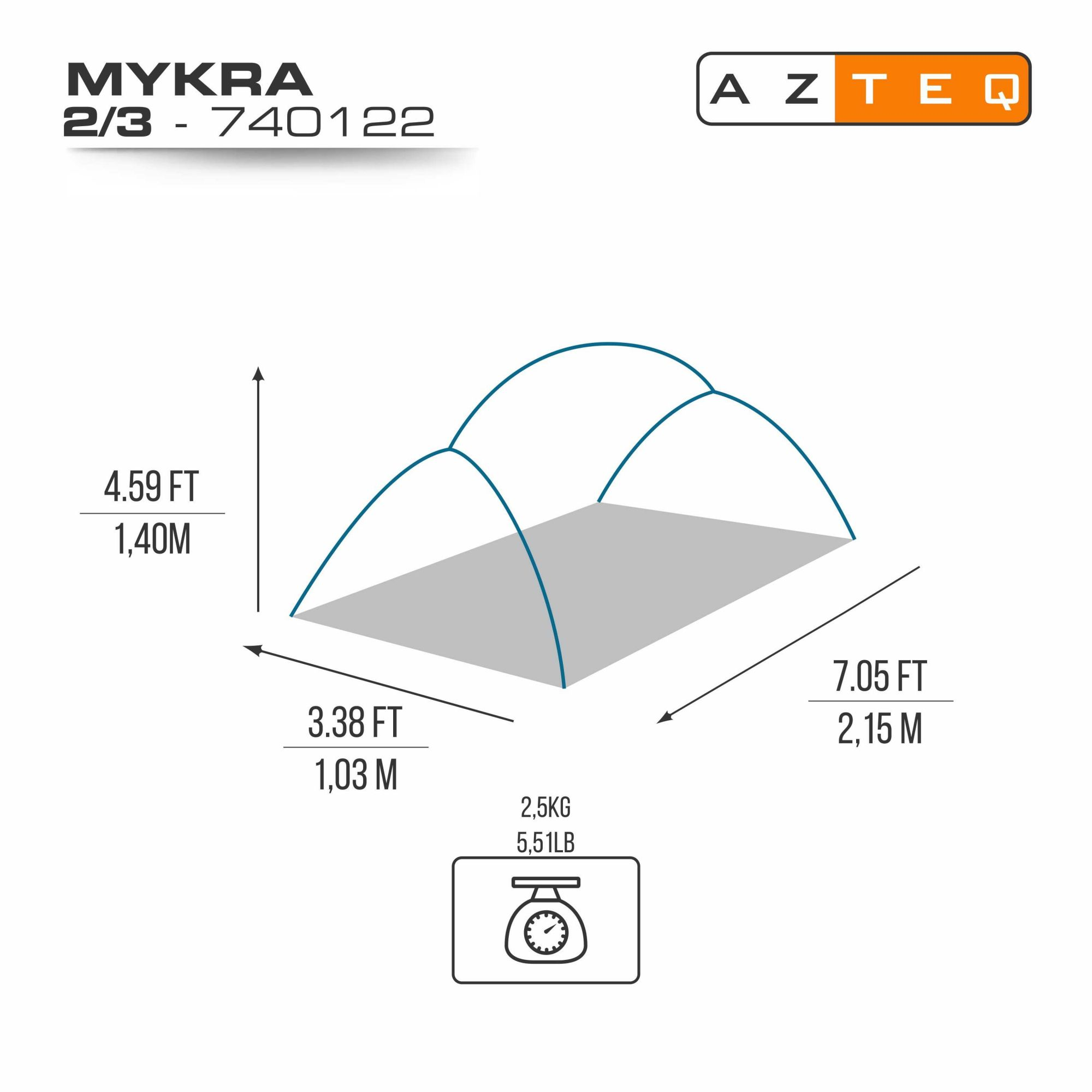 BARRACA MYKRA 2/3 - AZTEQ