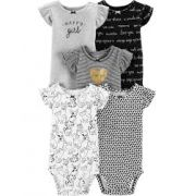 Kit Com 5 Body Manga Curta Love - Carter's