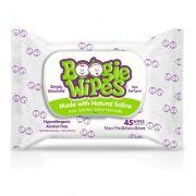 Lenços Umedecidos Boogie Wipes Branco Sem Fragância - Embalagem 45 Lenços