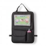 Organizador Para Carro Com Case Para Tablet Preto - Multikids Baby