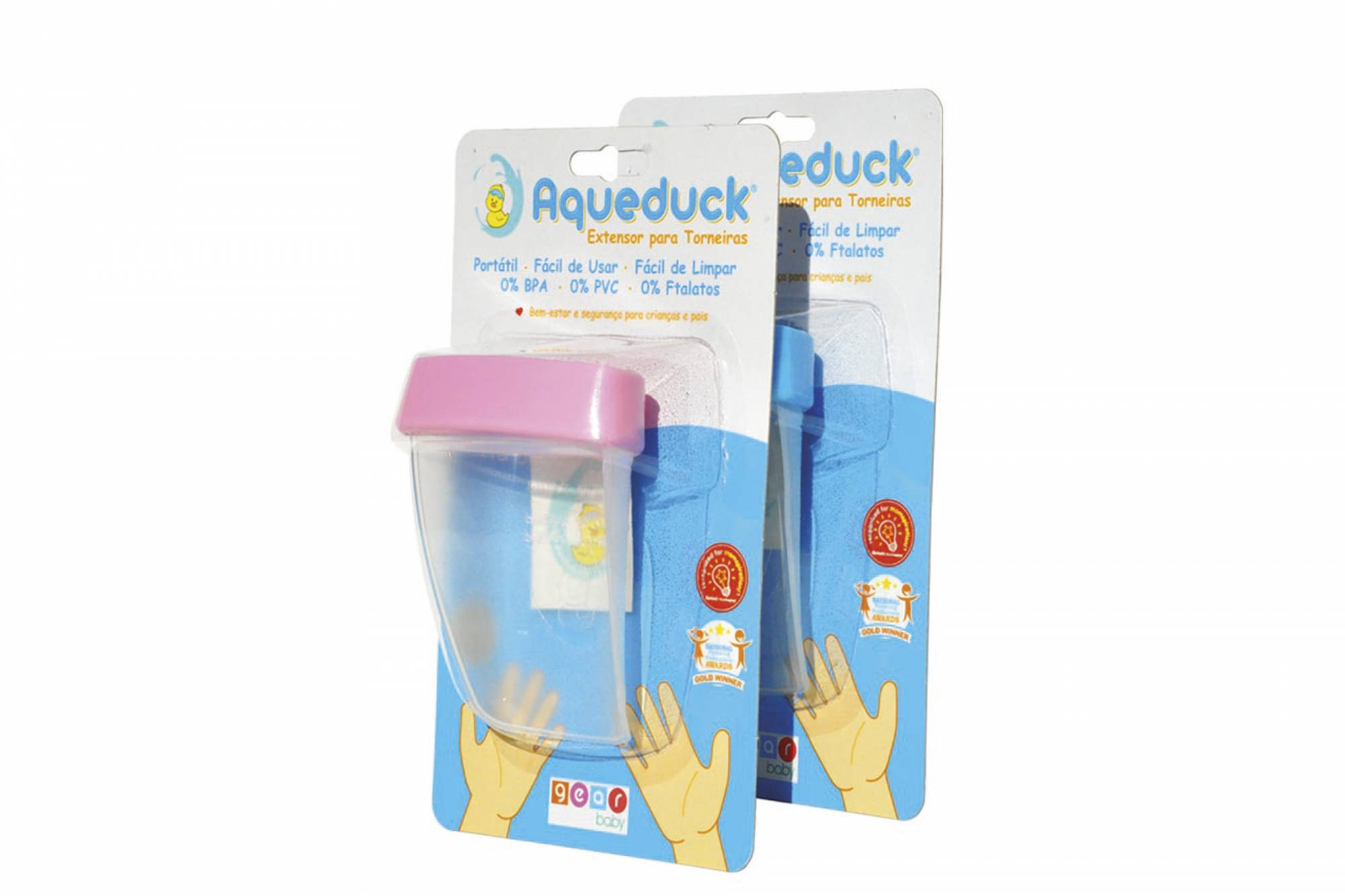 Aqueduck - Extensor Para Torneiras Azul 304