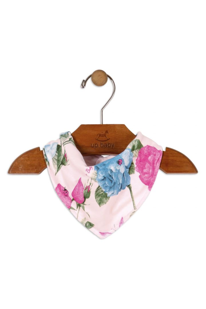 Bandana Floral Rosa Claro