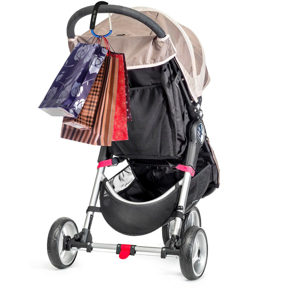 Clip Multiuso Para Carrinho de Bebê Preto - Clingo 2100