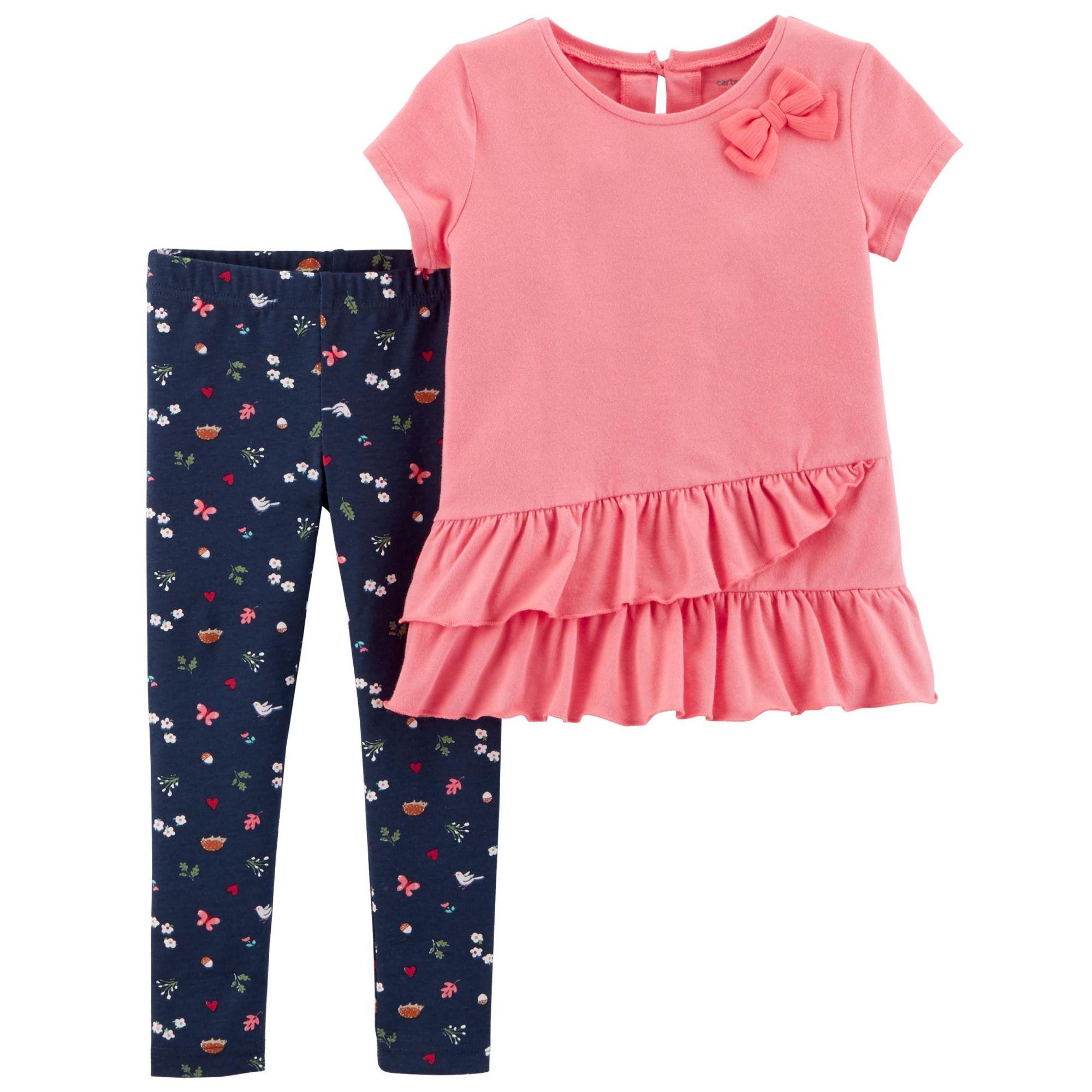 Conjunto Com 2 Peças Blusa / Calça Legging Floral - Carter's