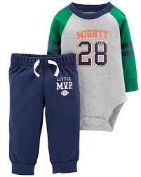 Conjunto Com 2 Peças Body / Calça Mighty 28 - Carter's