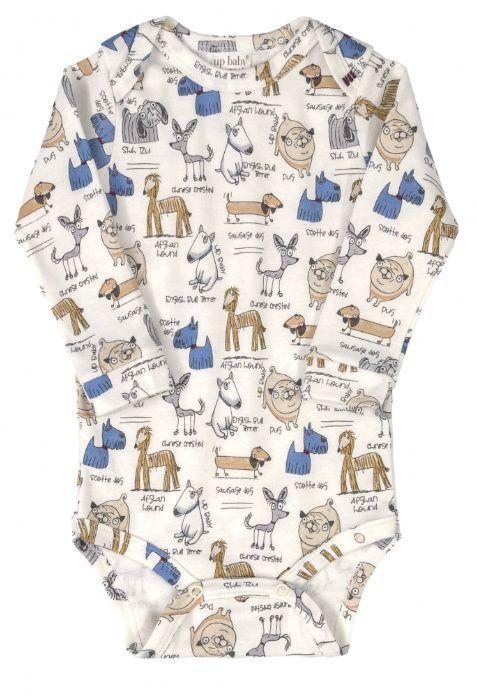 Conjunto Com 3 Peças Body / Calça / Touca de Cachorros Up Baby