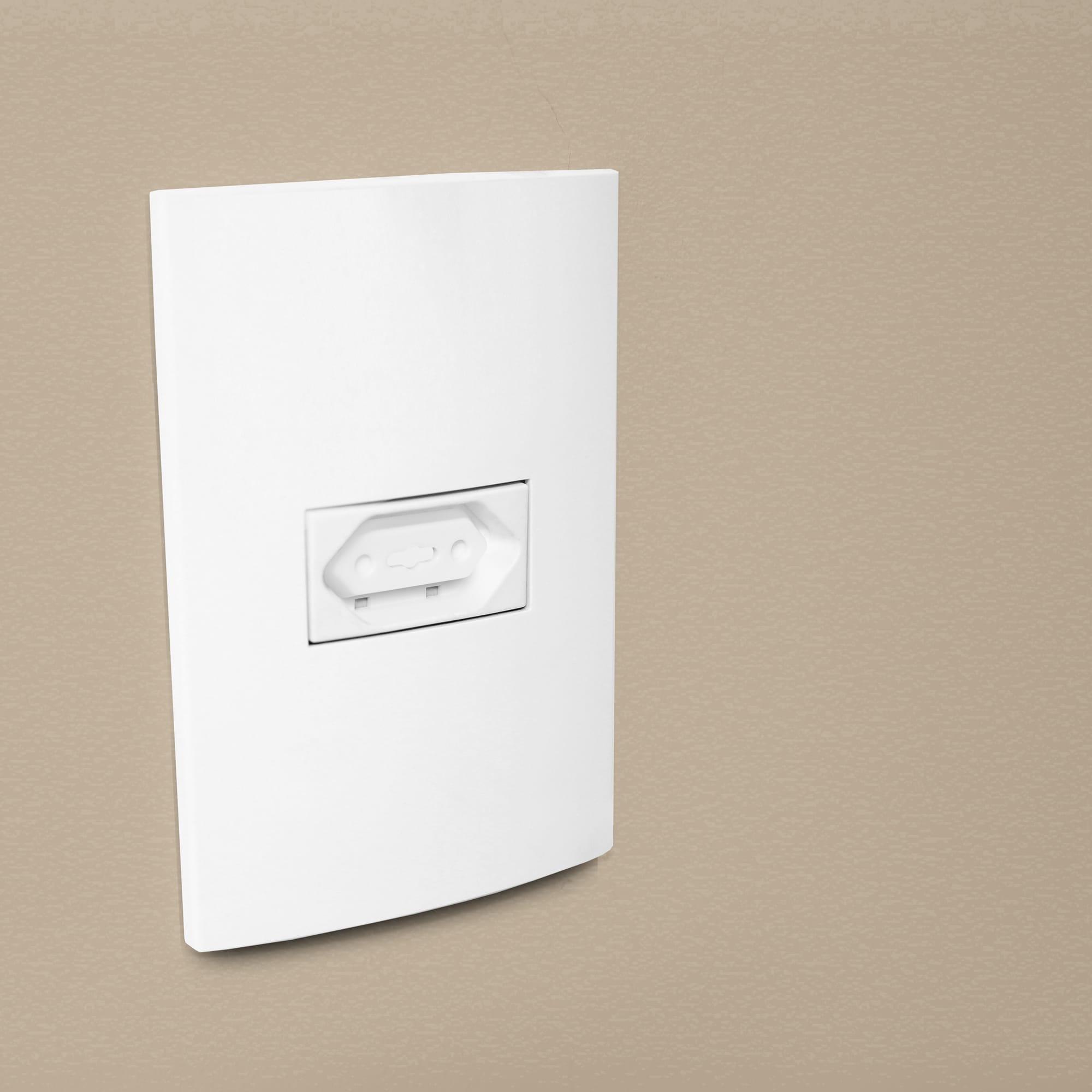 Conjunto De Protetores Para Tomada Branca 8 Unidades - Comtac