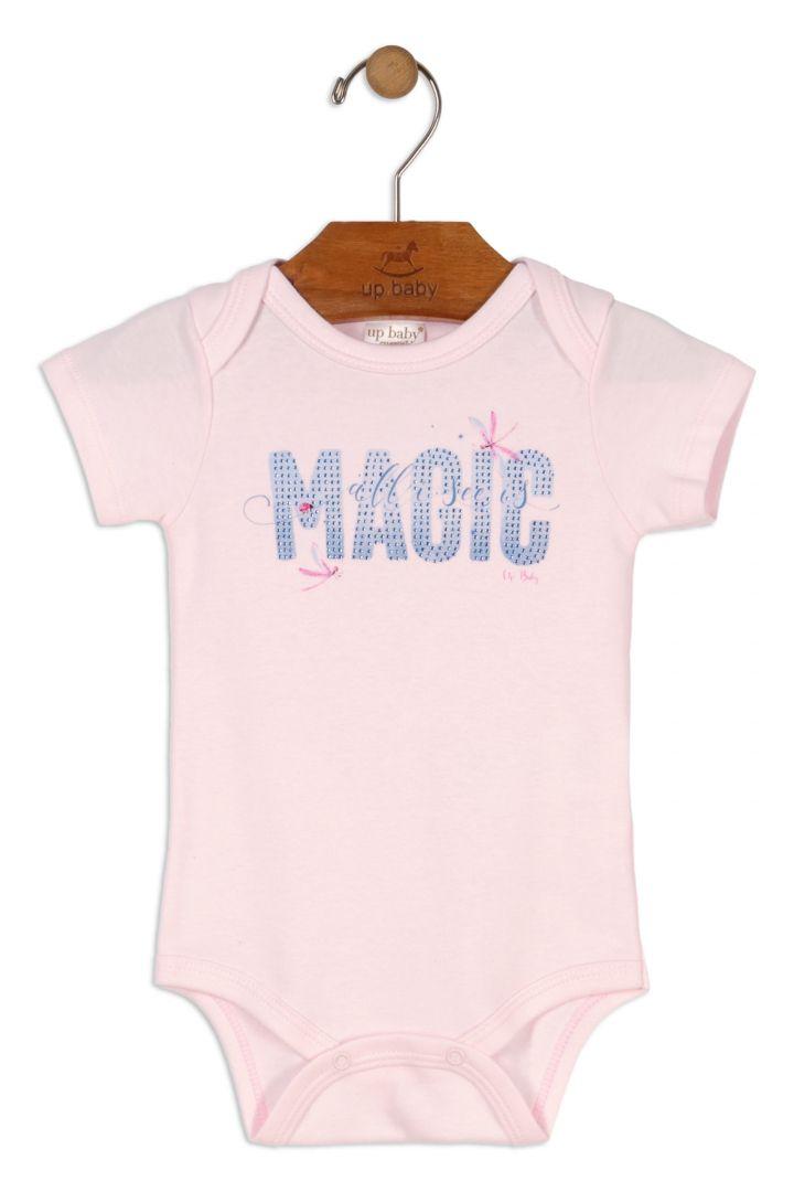 Conjunto Kit Bebê Menina Macacão / Body / Faixa / Calça  Rosa Floral - Up Baby