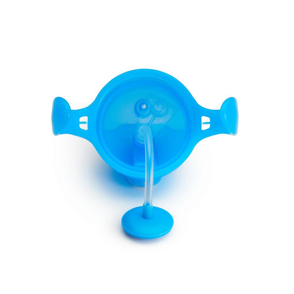 Copo de Treinamento Com Canudo Click Lock Azul - Munchkin