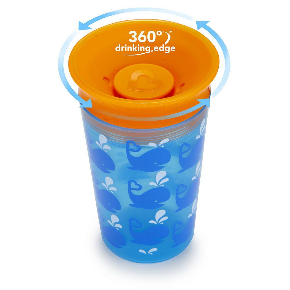 Copo Grande 360° Deco Azul / Laranja Baleia - Munchkin