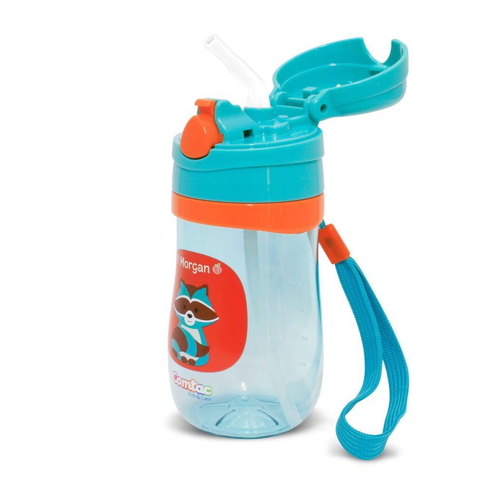 Copo Plástico com Canudo Tampa Guaxinim Morgan - Comtac