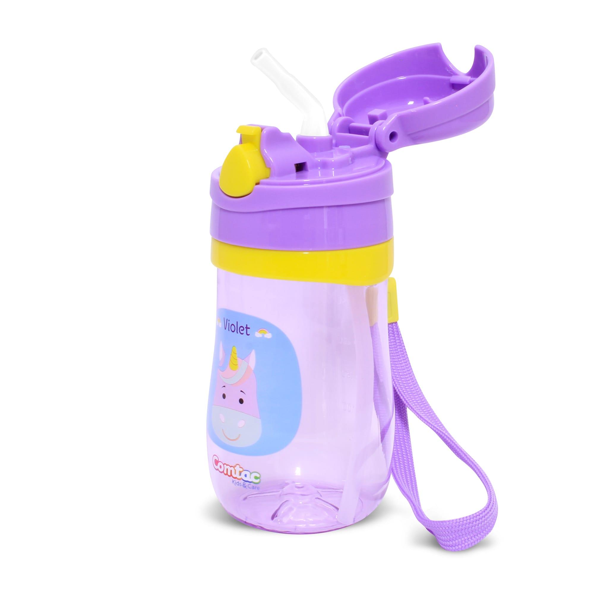 Copo Plástico com Canudo Tampa Unicórnio Violet - Comtac