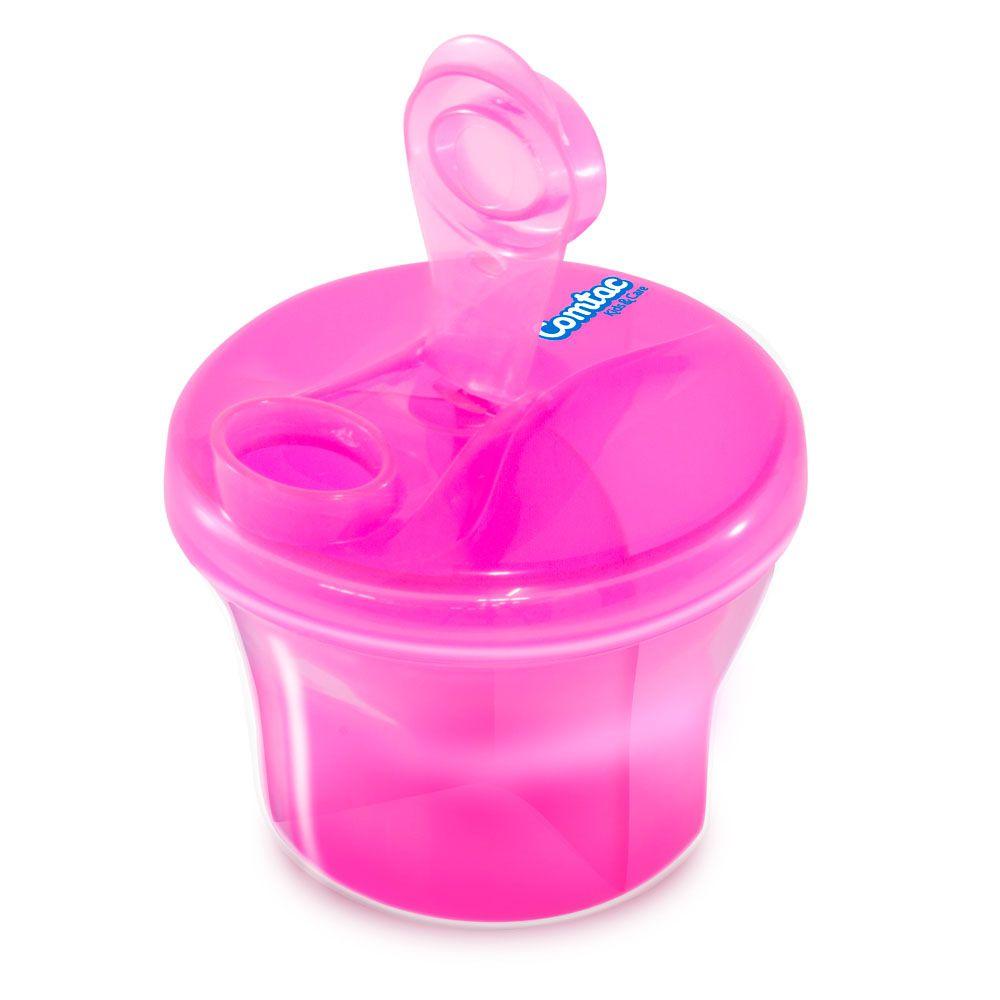 Dosador de Leite em Pó e Porta Biscoitos Rosa - Comtac