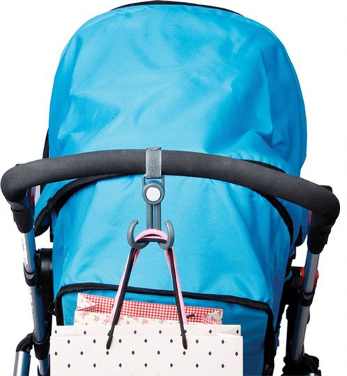Gancho Duplo Para Carrinho de Bebê Preto - Clingo
