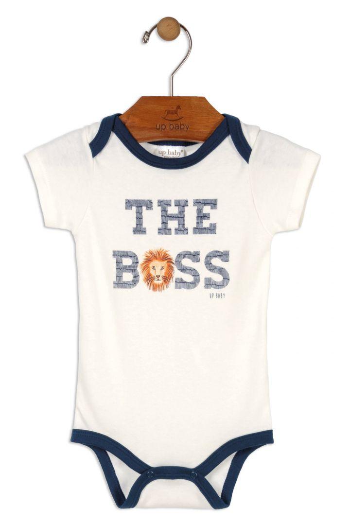 Body Manga Curta Leão The Boss Tam RN 0-3 meses - Up Baby