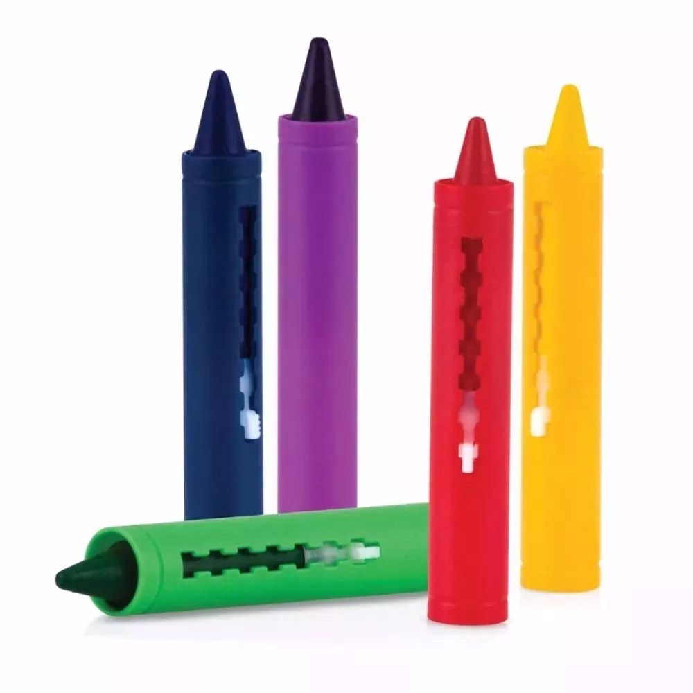 Lápis de Cera Para Banho  5 Cores - Nuby