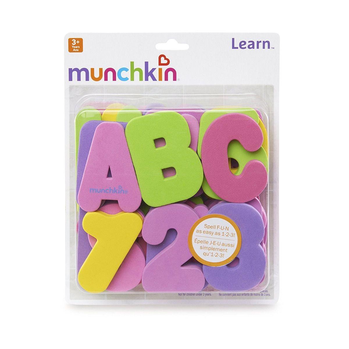 Letrinhas e Números Para Banho  Rosa / Lílas- Munchkin