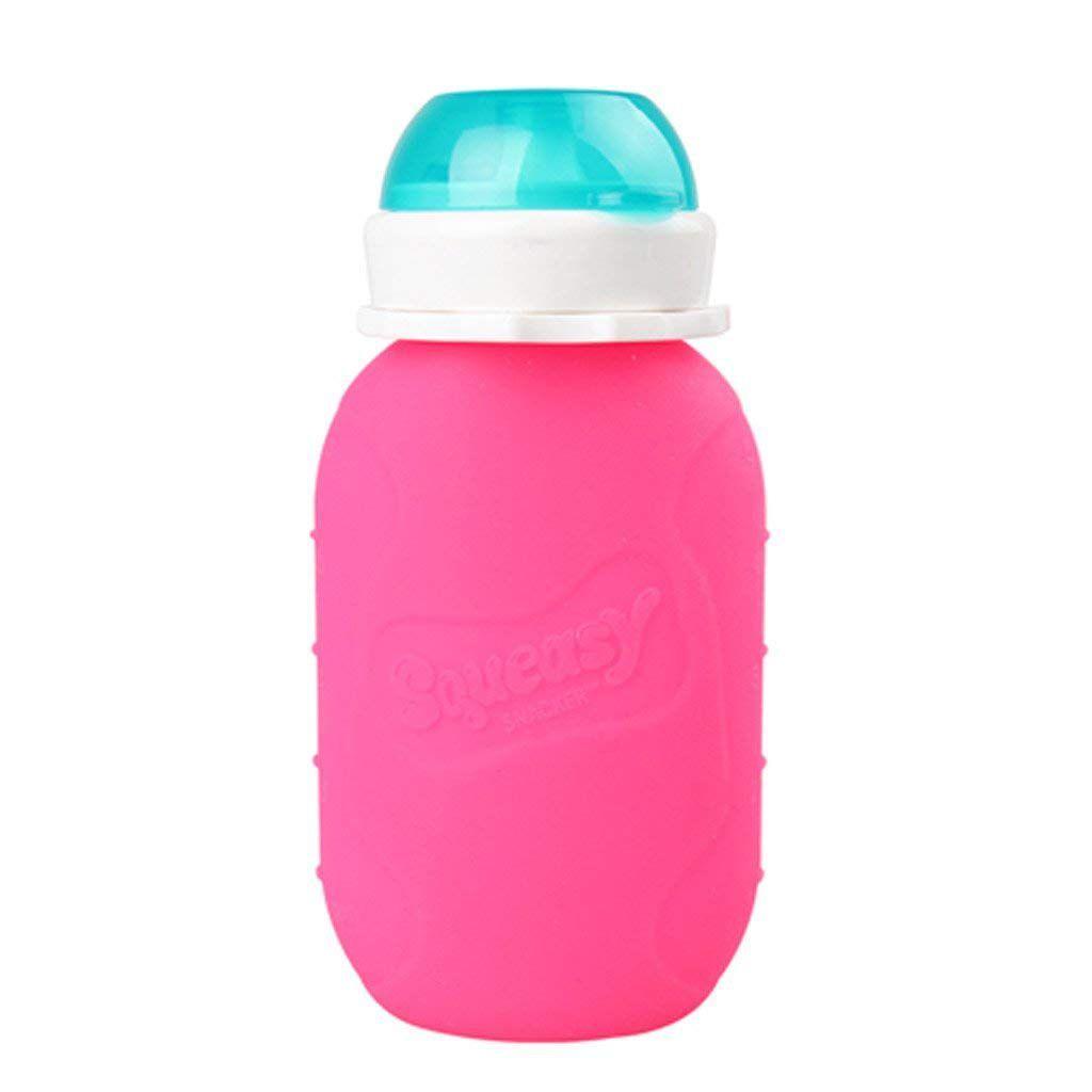 Squeasy Baby Alimentador Super Flexível de Silicone Rosa - 783