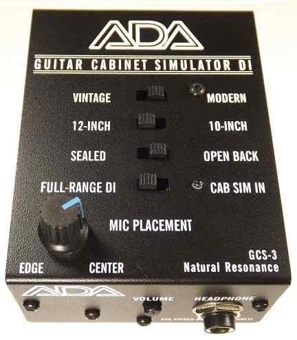 Direct Box Guitar Cabinet Simulator Ada Gcs-3