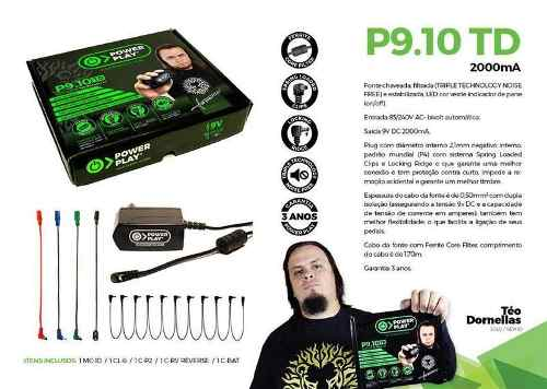 Fonte Para Até 10 Pedais Power Play P9.10td Teo Dornellas