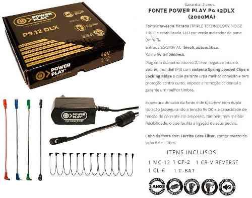 Fonte Para Até 12 Pedais Power Play P9.12 2000Ma