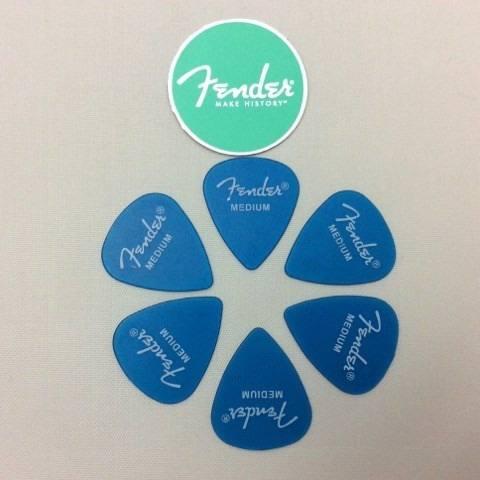Kit Pacote 6pçs Palheta Fender California Medium Azul