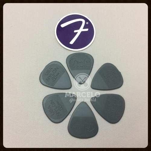 Kit Pacote 6pçs Palheta Fender Nylon Pick 0,88mm