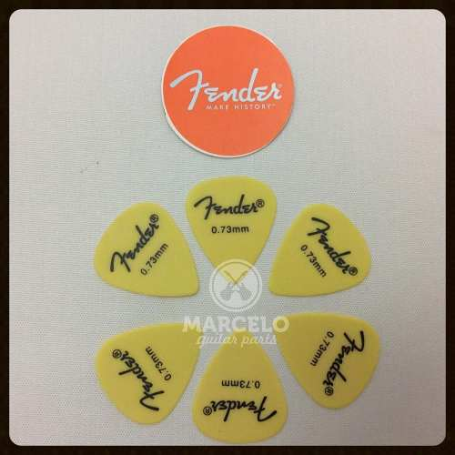 Kit Pacote 6pçs Palheta Fender Pick 0,73mm Medium