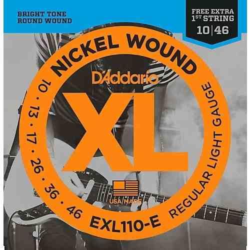 Kit 5sets Encordoamento Guitarra D Addario Exl 110b 010/046