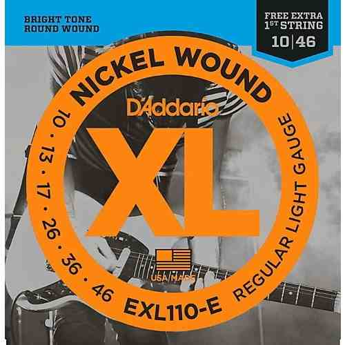 Kit 6sets Encordoamento Guitarra D Addario Exl 110b 010/046