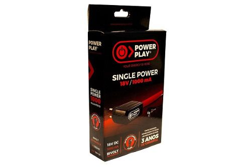 Fonte Power Play Single Power P/ Pedais18v 1000ma