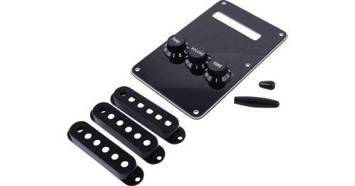 Kit De Acessorios Para Guitarra Fender Stratocaster Preto