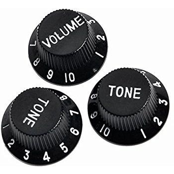 Kit Knobs Fender Para Guitarra Strato Made In Usa - Preto