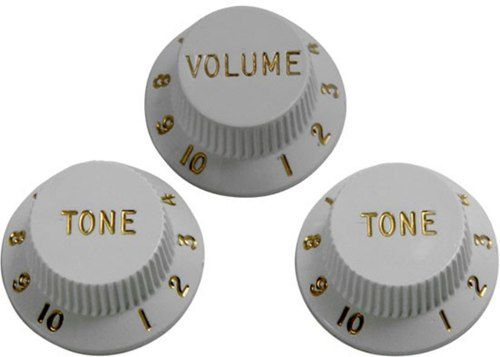 Kit Knobs Fender Para Guitarra Strato Made In Usa - Branco