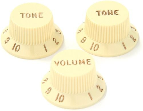 Kit Knobs Fender Para Guitarra Strato Made In Usa - Aged