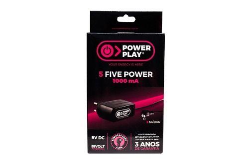 Fonte Power Play Para Até 5 Pedais Five Power 1000ma