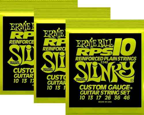 Kit 3sets Encordoamento Guitarra Ernie Ball 10/46 Slinky Rps