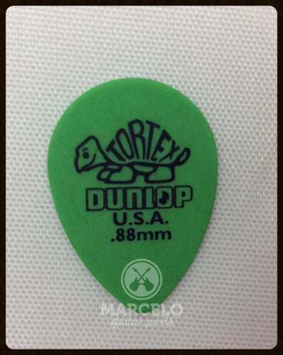 Kit Pacote 6pçs Palheta Dunlop Tortex Small Teardrop 0,88mm