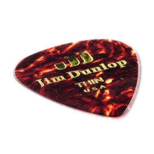 Palheta Dunlop Tortoise Shell Thin Fina