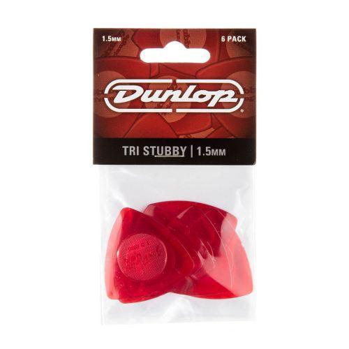 Kit Pacote 6pçs Palheta Dunlop Tri Stubby 1,5mm