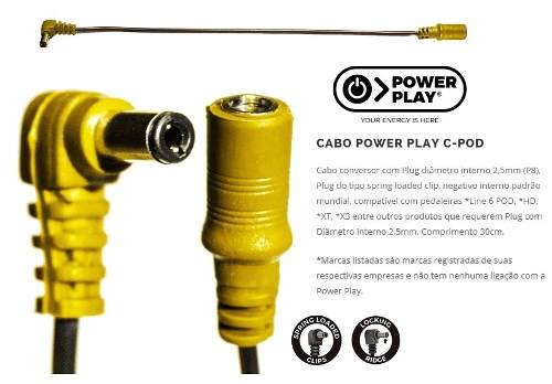 Cabo Adaptador Power Play C-pod Pedaleiras Line 6