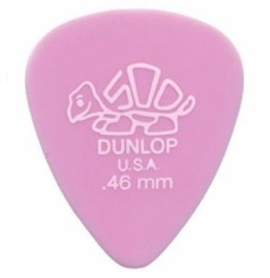 Kit Pacote 6pçs Palheta Dunlop Tortex Standard Nylon 0.46mm