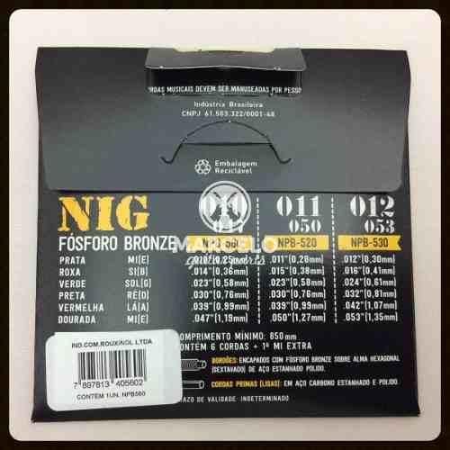 Encordoamento Violão Nig 010/47 Aço