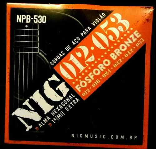 Kit 3sets Encordoamento Violão Nig 012/53 Aço Fosforo Bronze