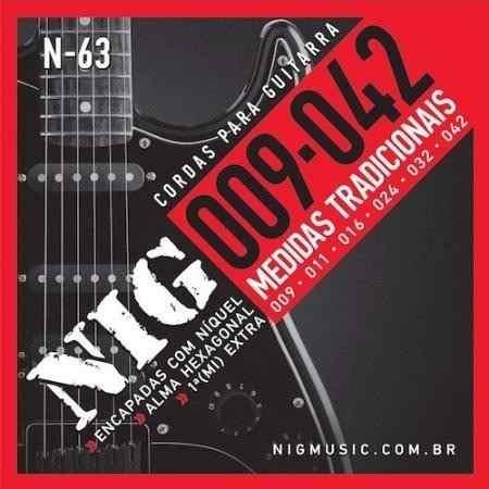 Kit 3sets Encordoamento Guitarra 009/042 Nig
